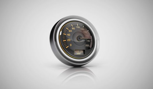 image of our speed test dial