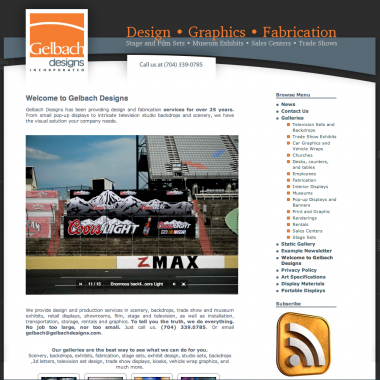 image of gelbach designs website