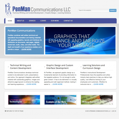 image of the penman pronto website