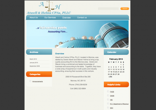 image of the Atwell and Helms Website