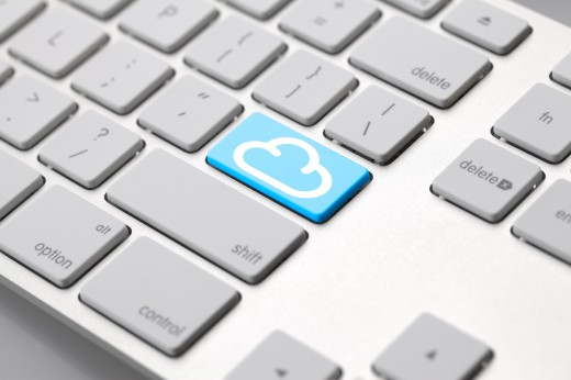 image of keyboard with cloud enter key