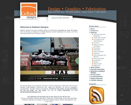 image of gelbach designs website